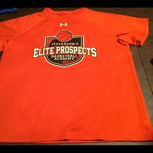 Under armor orange youth XL T-shirt elite prospect